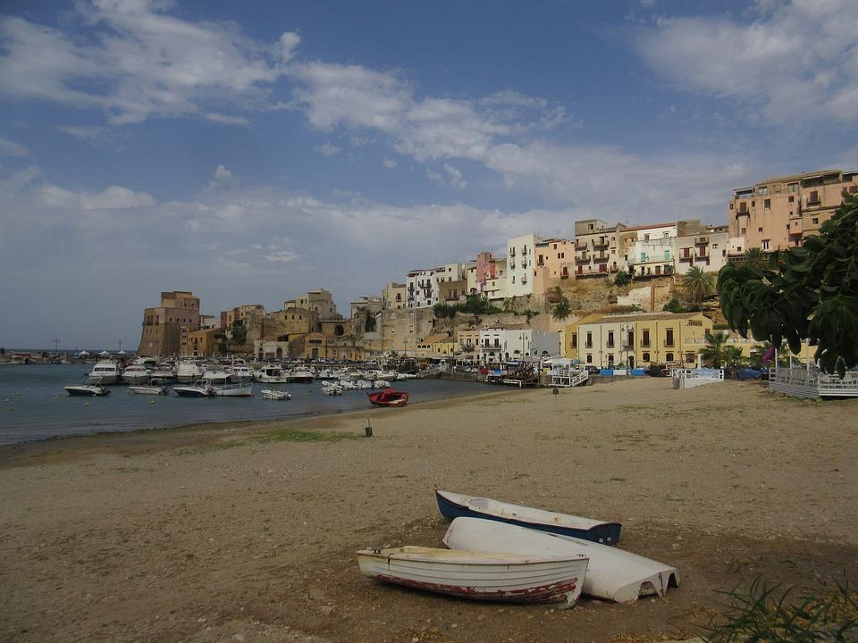Beach, Boat, Sicily, Sand, Seaside, Summer, Holiday