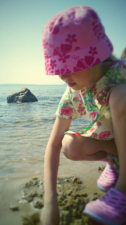 Girl, Beach, Summer