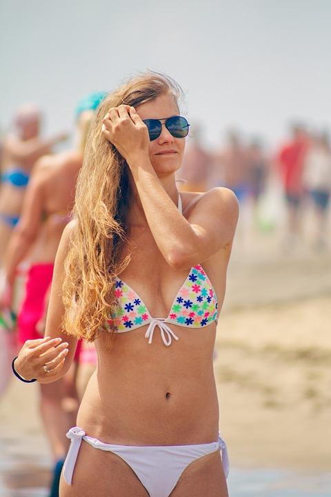 Beach, Summer, Bikini, Woman, Young Woman