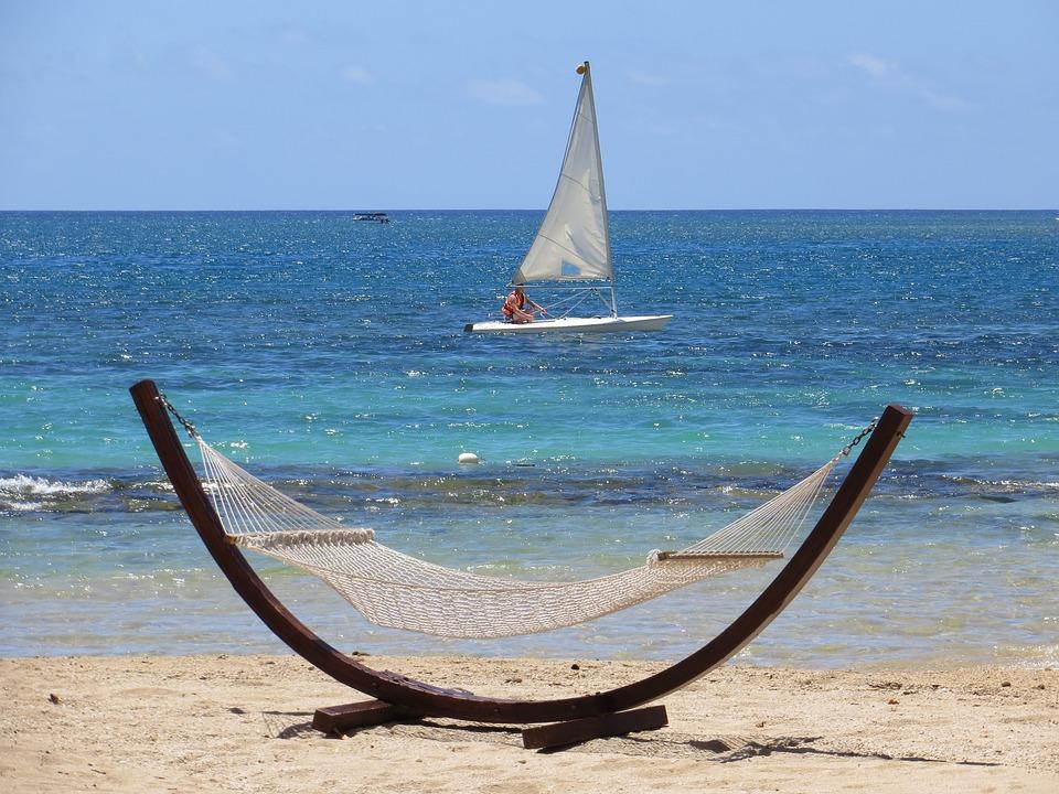 Beach, Summer, Sea, Holiday, Sun, Sand, Hammock