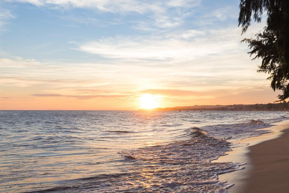 Beach, Waters, Nature, Sun, Sand, Sunset, Sea, Coast