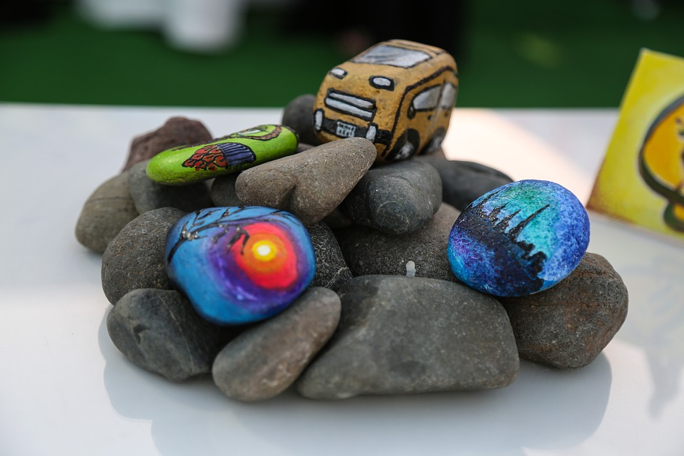 Rock - Object, Stone - Object, Pebble, Sunlight, Beach