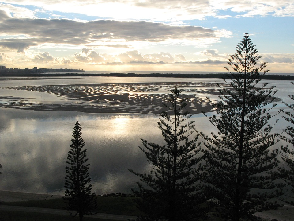 Sunrise, Beach, Low Tide, Morning, Sunrise Beach