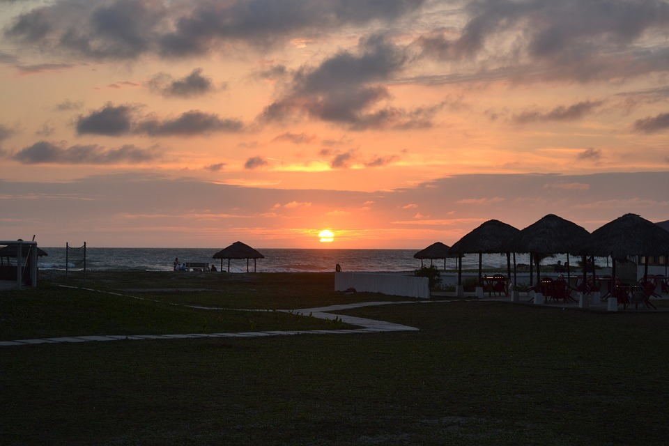 Beach, Sea, Horizon, Ocean, Sunset, Sun, Clouds, Sky