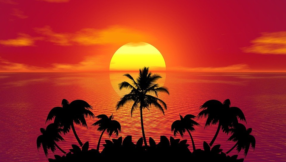 Tropical Sunset Summer Beach
