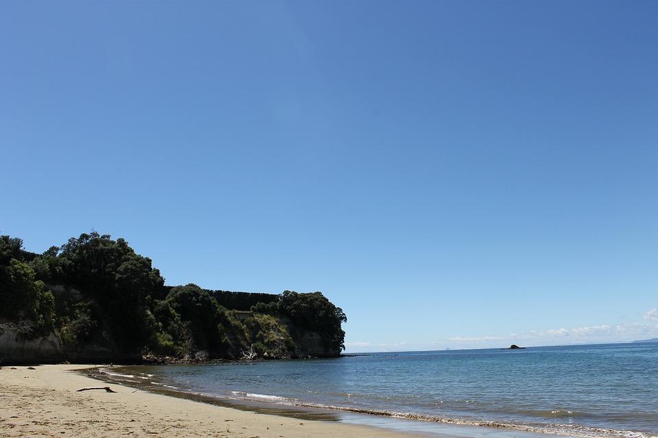 Beach, New Zealand, Sunshine