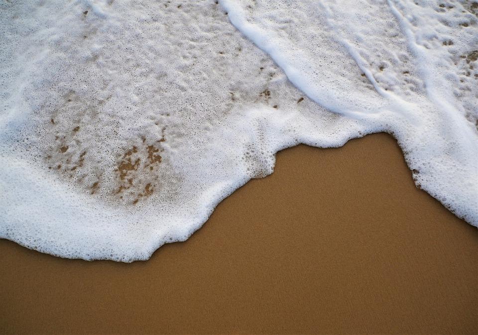 Spray, Beach, Sea, Water, Sand, Foam, Surf, Beach Sea