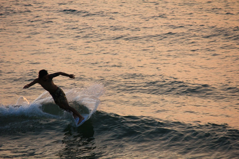 Surfer, Wave, Beach