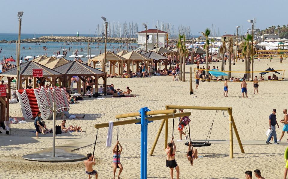 Israel, Beach, Tel Aviv, Sand, Water, Summer