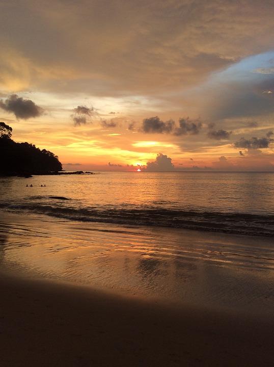 Thailand, Beach, Sunset