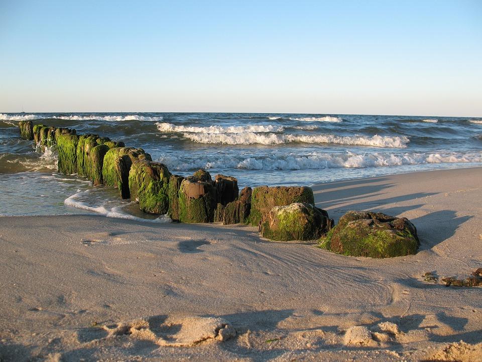 Sea, Beach, Sand, The Baltic Sea, Poland, Breakwater