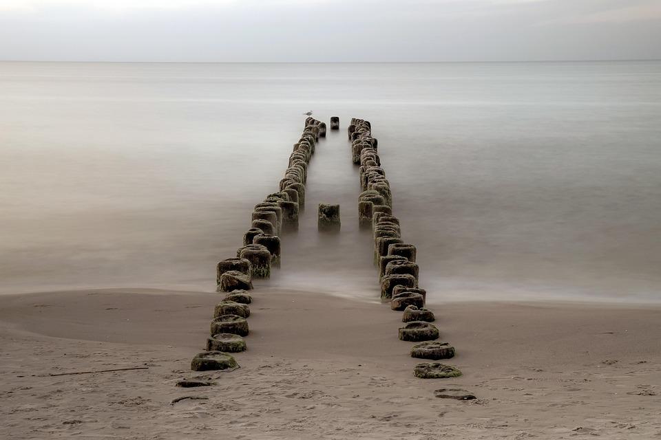 The Old Breakwater, The Endless Sea, Beach, Ocean