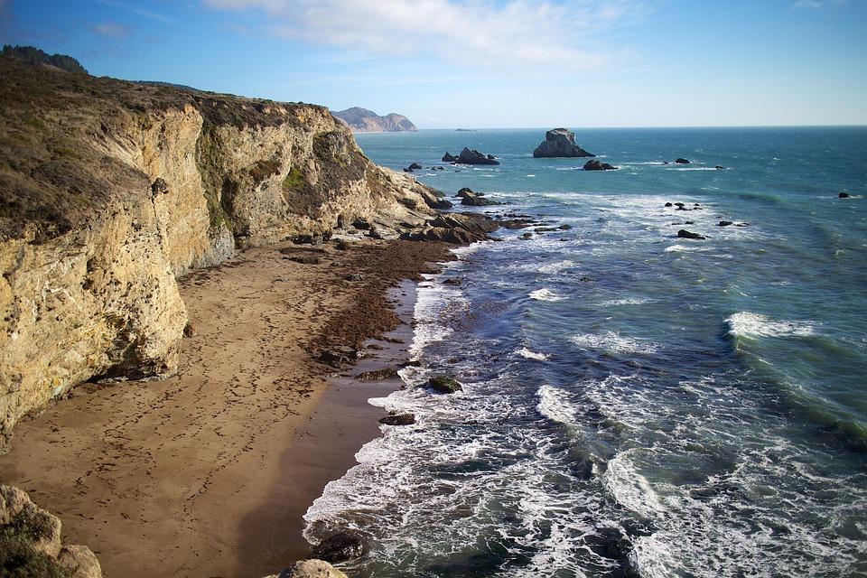 Tomales Bay, Waves, Ocean, Sea, Coast, Beach