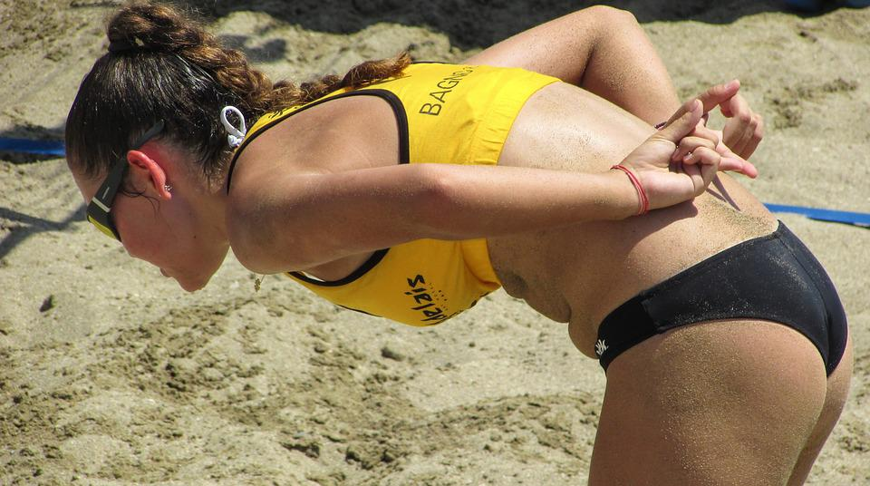 Beach Volley, Sport, Attacking Plan, Sign, Female