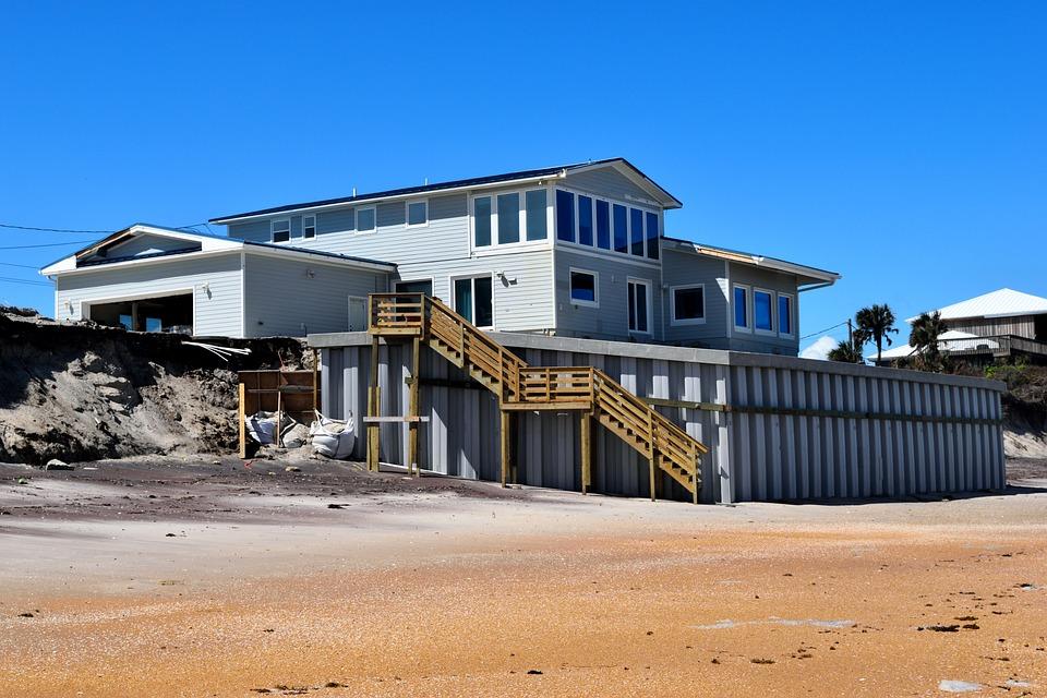 Beach Wall, Erosion Protection, Hurricane Irma