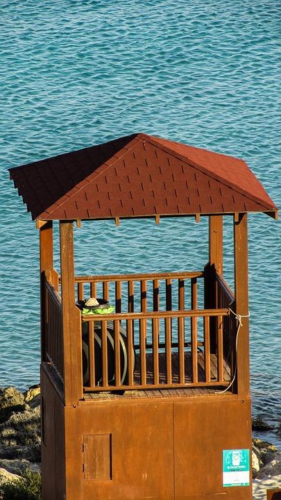 Cyprus, Konnos Bay, Beach, Watchtower, Tourism