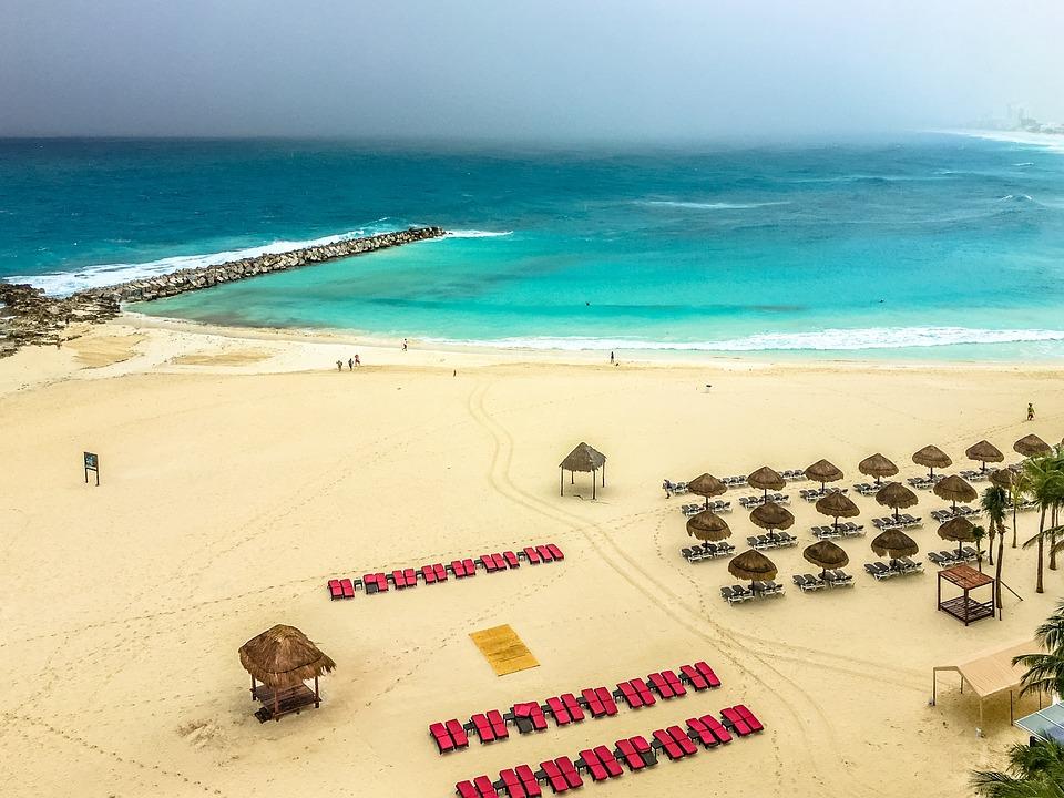 Mexico, Cancun, Caribbean, Travel, Beach, Water