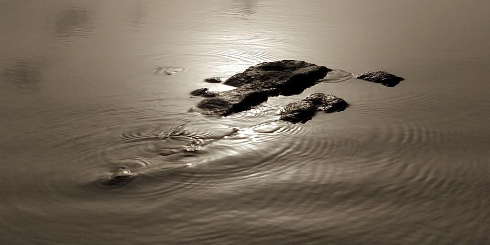 Beach, Stones, Zen, Water, Ripples, Sunset