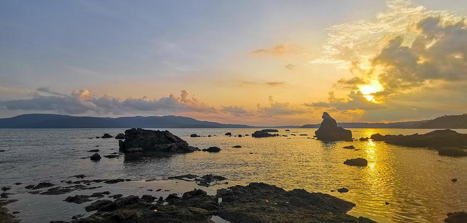 Sunset, Water, Nature, Beach, Sky, Sea, Ocean