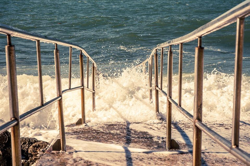 Sea, Wave, Shores Railing, Water, Coast, Beach Water