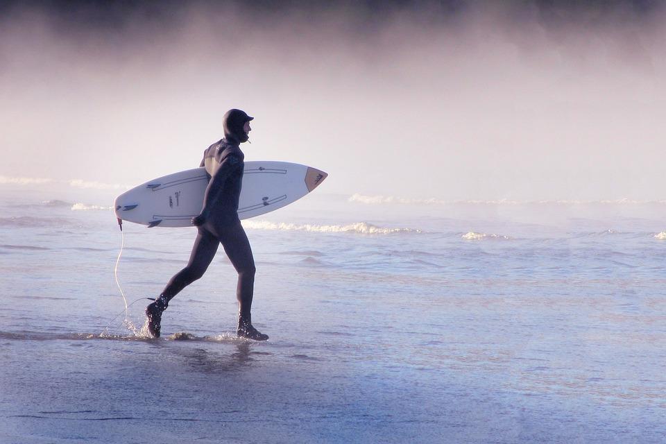 Surfer, Action, Surf, Beach, Waters, Sea, Head, Water