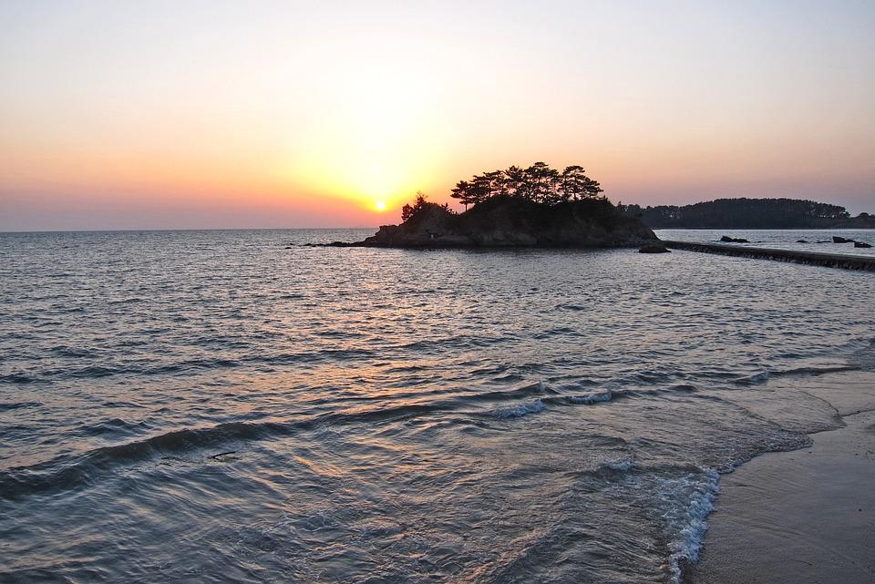 Sea, Wave, Beach, Sunset, Island, Sand, Sun