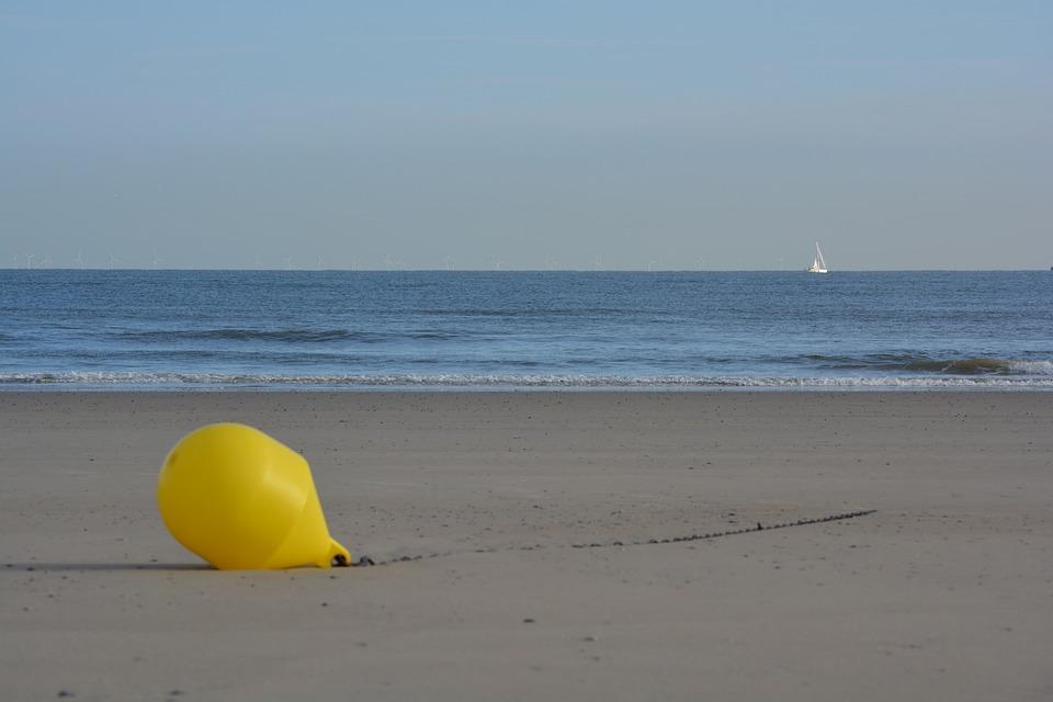 Buoy, Sea, Beach, Yellow Buoy