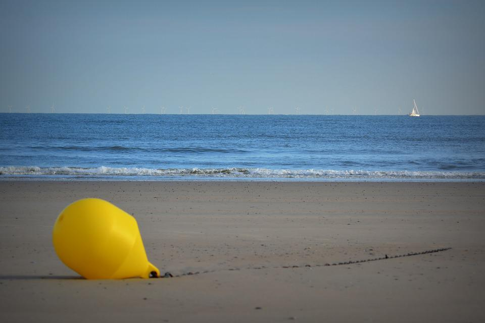 Buoy, Beach, Sea, Yellow Buoy