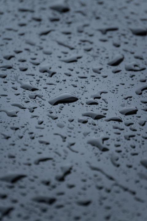 Drops, Rain, Water, Dark, Rainy, Beaded
