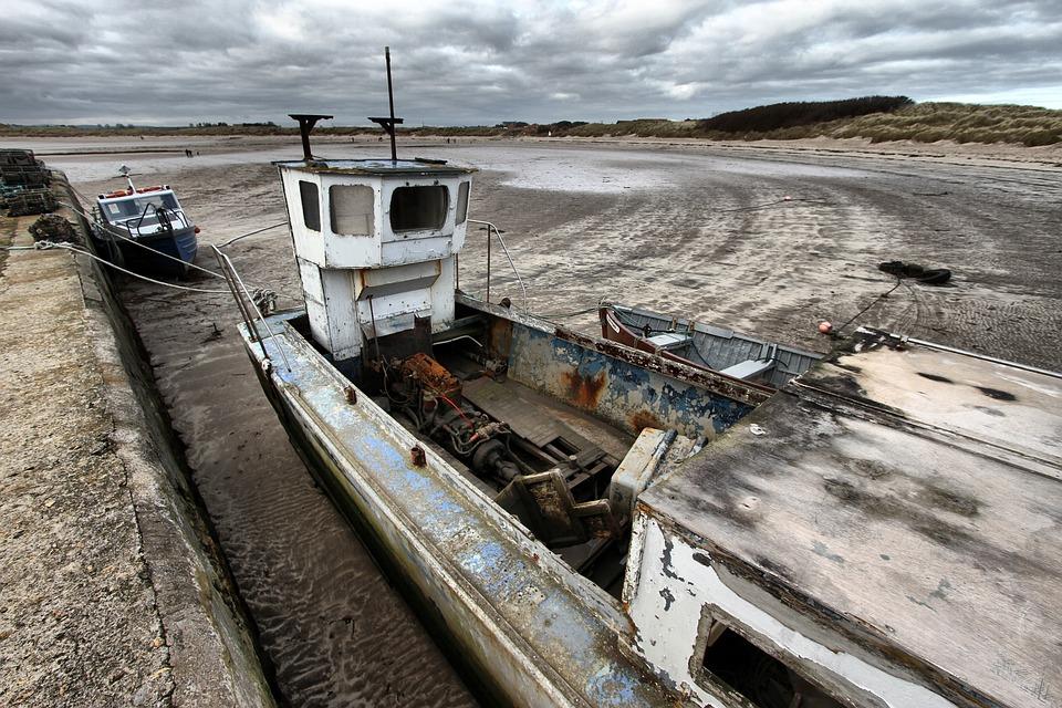 Boat, Harbour, Harbor, Sea, Port, Vessel, Beadnell