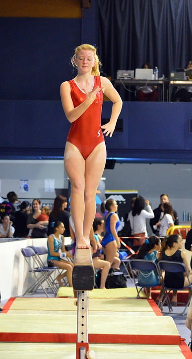 Competition Gymnastics Beam Sport