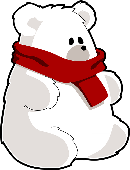 Polar Bear, Ice Bear, Bear, Scarf, Toy, Cold