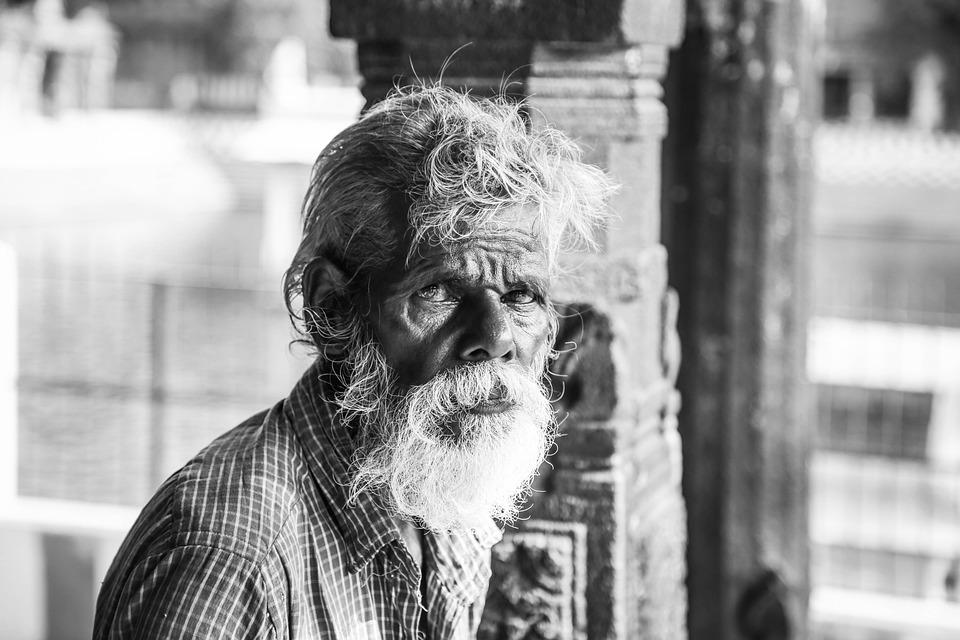 Adult, Beard, Blur, City, Close-up, Elderly, Grey Hair
