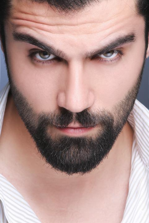 Man, Beard, Eyes, Handsome, Madel