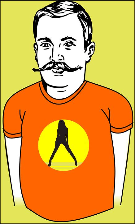 Man, Colour, Cartoon, People, Person, Beard