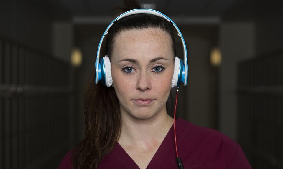 Female, Student, Beats, Headphones, Nurse