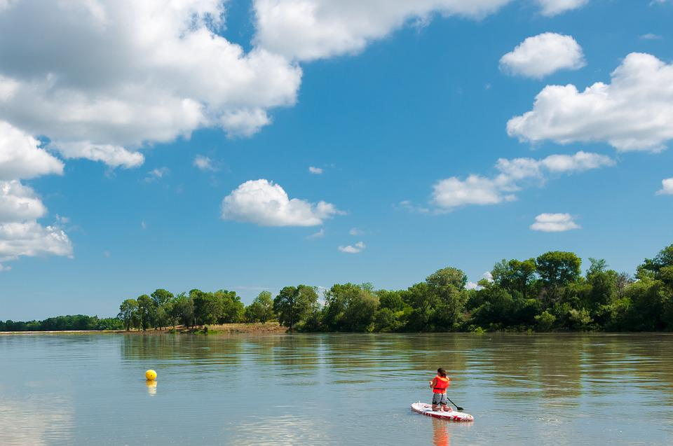 Paddle, Rhône, Beaucaire, River, Water, Oars, France