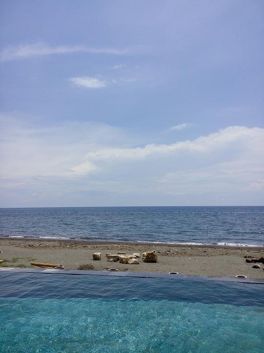 Sky, Beautiful, Blue, Beach, Pool