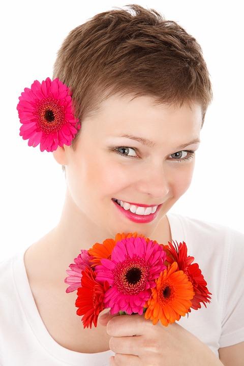 Adult, Beautiful, Beauty, Face, Fashion, Female, Flower