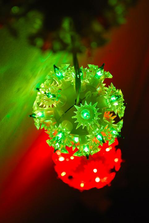 Light, Christmas, Holiday, Postcard, Beautiful, Green