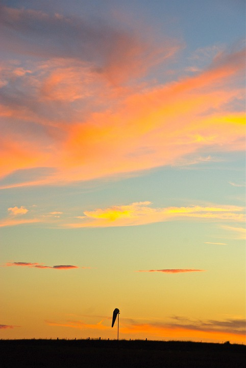 Sunset, Sky, Sun, Orange, Yellow, Beautiful, Idyll