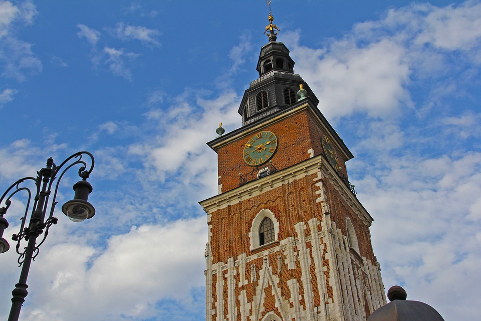 Blue Sky, Beautiful, Cloud, Cloth Hall, Krakow, Poland