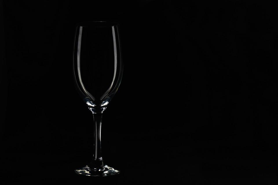 Low Key, A Glass Of, Glass, Beautiful, Clean, One