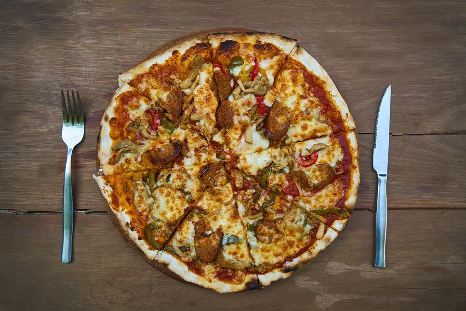 Pizza, Macro, Cheese, Food, Kitchen, Cafe, Beautiful
