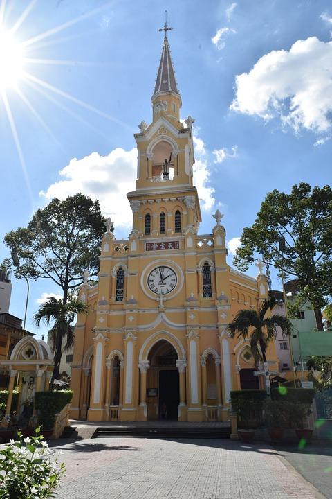 Cha Tam Church, Backlit, Beautiful Sky