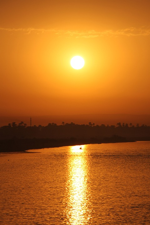Egypt, Sunset, Nil, Sun, Beautiful, River