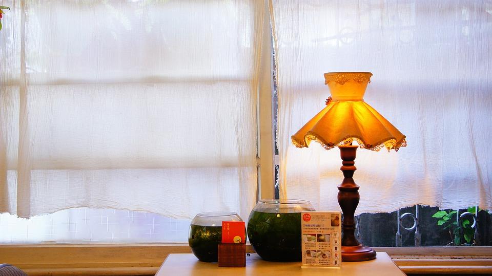 Tables, Window, Lamp, Scene, Beautiful