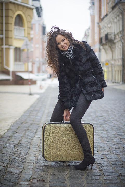 Suitcase, Girl, Woman, Travel, Beautiful, Bag, Female