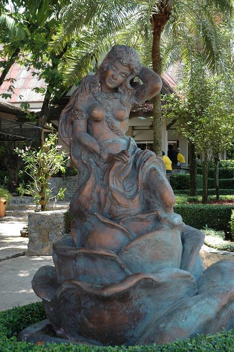 Sculpture, Beautiful Woman, Thailand