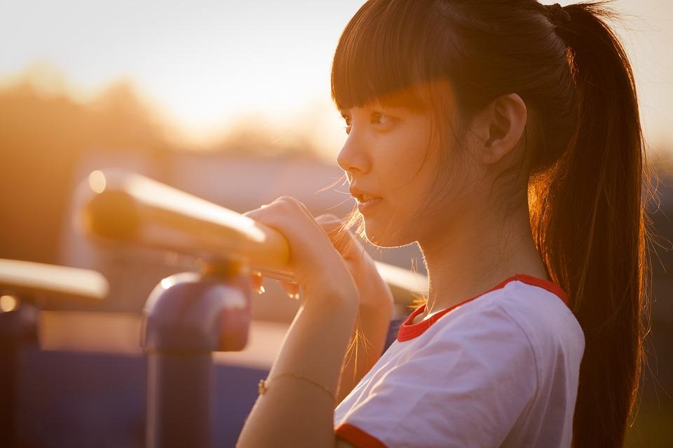 Portrait, Sunset, Beauty, Young Women, Asia, Light